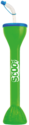 SCOOP, Stort timglas,500ml, m. lock & sugrör, 54st
